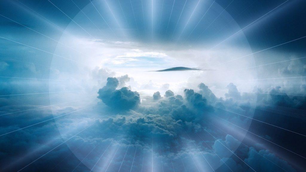 clouds, landscape, beyond